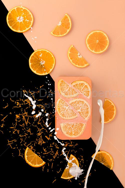 Orange Semifreddo is an artistic still life created in 2020<br /> Licensable as NFT on Opensea: https://bit.ly/orangesemifreddo