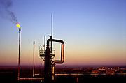 Orenburg, central Russia, 26/10/98...Major Gazprom production facility near Oenburg in central Russia.