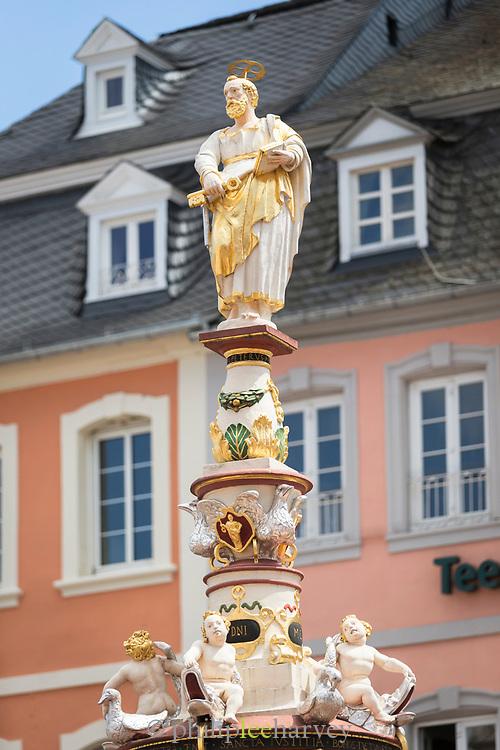 Petrusbrunnen in Trier, Germany
