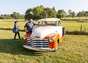 Vintage Chevrolet car vehicle Glemham Hall, Suffolk, England, UK Brocante event September 2019