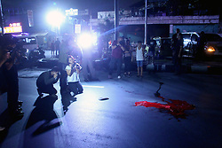 November 15, 2016 - Philippines - (EDITOR'S NOTE: Image contains graphic content) Members of the media documents the crime scene of another summary executions at Rizal St., in Pasay City. (Credit Image: © Gregorio B. Dantes Jr/Pacific Press via ZUMA Wire)