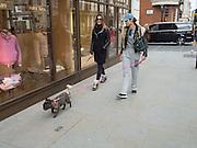 Ladies with lapdosgs. Mayfair, London. 21 April 2016