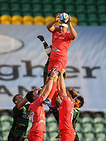 Rugby Union - 2019 / 2020 Gallagher Premiership - Northampton Saints v Sale Sharks - Franklin Gardens<br /> <br /> Sale Sharks' Jono Ross claims the lineout.<br /> <br /> COLORSPORT/ASHLEY WESTERN