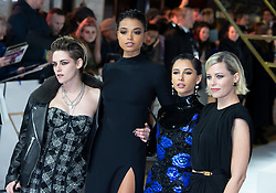 Kristen Stewart, Ella Balinska,Naomi Scott and Eizabeth Banks attend the Charlie's Angels UK Premiere in London, 20 November 2019.<br /><br />20 November 2019.<br /><br />Please byline: Vantagenews.com