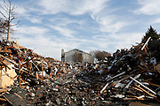Rubble from The Arbors of Las Colinas apartment complex at 1008 San Jacinto Dr. in Irving, Texas, is what remains after a four-alarm fire the night before, photographed on December 4, 2012.  (Stan Olszewski/The Dallas Morning News)