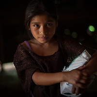 Reina, at the corn mill in a Q'eqchi house in Concepción Actelá, Alta Verapaz. World Renew is beginning to work in Concepción Actelá, through its Guatemalan partner ADIP.