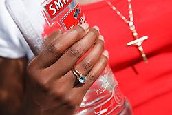 Teenage girl drinking.