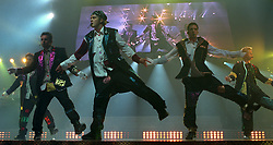 Pop stars N' Sync perform at the Sports Arena on Wednesday night. (Published caption:  *NSYNC's Joey Fatone (from left), Chris Kirkpatrick, Justin Timberlake, JC Chasez and Lance Bass showed Sports Arena fans a roaring good time.) UT photo by Eduardo Contreras. (Credit Image: © Eduardo Contreras/U-T San Diego/ZUMAPRESS.com)