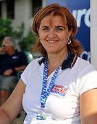 Plovdiv BULGARIA.  Romanian rowing multi  Gold Medalist, Elisabeta LIPA - OLENIUC   at the medal ceremony women's single sculls .   2011 FISA European Rowing Championships, Plovdiv Rowing Centre   Sunday  18/09/2011  [Mandatory Credit; Peter Spurrier: Intersport Images]  Original Camera File No.  2011011994.jpg