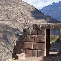 The snake gate also called Amaru Punku was the control gate between Q'allaqasa and Pisaqa.