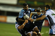 Rey Lee Lo of Cardiff Blues heads for the tryline.  Guinness Pro12 rugby match, Cardiff Blues v Glasgow Warriors Rugby at the Cardiff Arms Park in Cardiff, South Wales on Friday 16th September 2016.<br /> pic by Andrew Orchard, Andrew Orchard sports photography.