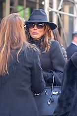 Jill Zarin attends her late husband, Bobby Zarin's funeral - 15 Jan 2018