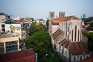 Vietnam, Hanoi. Cathedral situated in the Old Quarter.