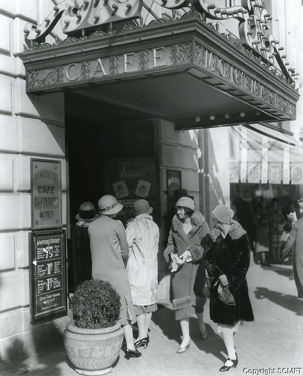 1929 Entrance to Cafe Montmartre on Hollywood Blvd.