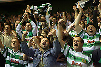 Photo: Rich Eaton.<br /> <br /> Nottingham Forest v Yeovil Town. Coca Cola League 1. Play off Semi Final 2nd Leg. 18/05/2007. Yeovil fans celebrate victory over Forest by 5-2 in extra time