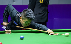 WUXI, July 8, 2017  Zhou Yuelong of China team B competes during the quarterfinal match between China team B and Belgium at the 2017 Snooker World Cup teams competiton in Wuxi, east China's Jiangsu Province, July 8, 2017. (Credit Image: © Yang Lei/Xinhua via ZUMA Wire)