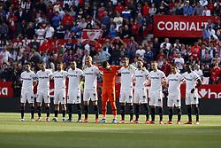 February 23, 2019 - Seville, Madrid, Spain - Sevilla FC team seen before the La Liga match between Sevilla FC and Futbol Club Barcelona at Estadio Sanchez Pizjuan in Seville, Spain. (Credit Image: © Manu Reino/SOPA Images via ZUMA Wire)