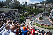May 20-24, 2015: Monaco Grand Prix: Start of the 73rd Monaco Grand Prix. Lewis Hamilton leads the field