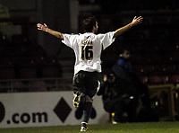 Photo: Olly Greenwood.<br /> Leyton Orient v Bristol City. Coca Cola League 1. 01/11/2006. Bristol's Richard Keogh celebrates scoring
