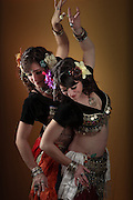 USA, Oregon, Eugene, Belly Dancers dancing. MR
