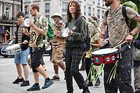Extinction Rebellion protestors St Martin's Lane london photo by Krisztian Elek