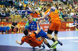 14-04-2019 SLO: Qualification EHF Euro Slovenia - Netherlands, Celje<br /> Blaz Blagotinsek of Slovenia vs Evert Kooijman of Netherlands during handball match between National teams of Slovenia and Netherlands in Qualifications of 2020 Men's EHF EURO