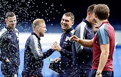 """Burnley's Sam Vokes before the Premier League match at Goodison Park, Liverpool. PRESS ASSOCIATION Photo. Picture date: Sunday October 1, 2017. See PA story SOCCER Everton. Photo credit should read: Martin Rickett/PA Wire. RESTRICTIONS: EDITORIAL USE ONLY No use with unauthorised audio, video, data, fixture lists, club/league logos or """"live"""" services. Online in-match use limited to 75 images, no video emulation. No use in betting, games or single club/league/player publications."""