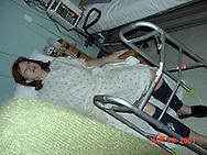 31st December 2009. Montecito, California. Berna Kieler who has complained to authorities that the 12 inch titanium rod in her hip, registers on all airport x-ray machines except at JFK airport, in New York. PHOTO © JOHN CHAPPLE / www.chapple.biz.john@chapple.biz  (001) 310 570 9100.