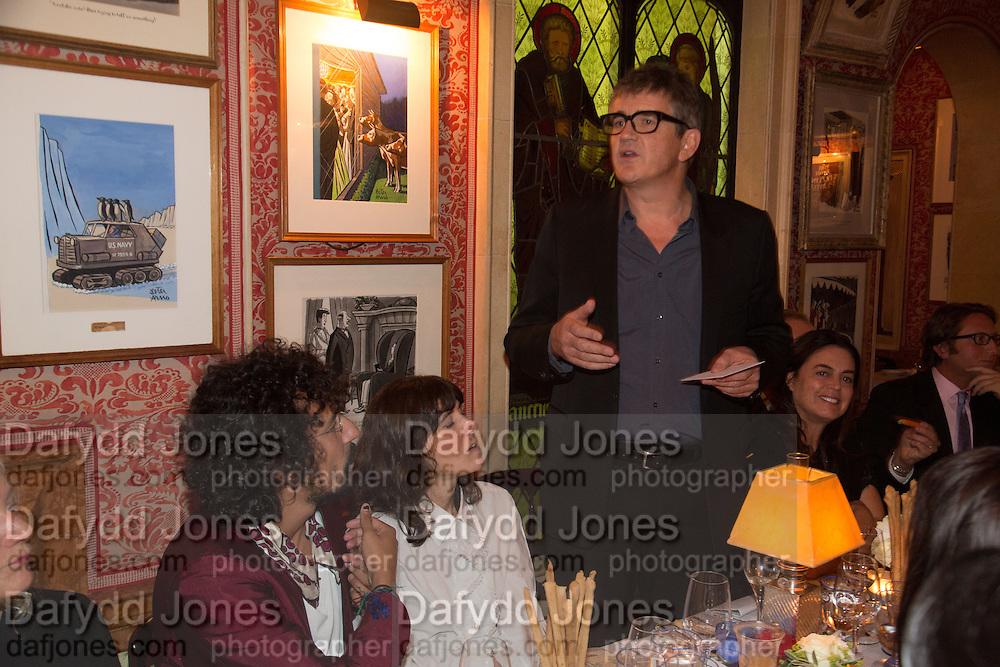 JAY JOPLING, Charles Finch and  Jay Jopling host dinner in celebration of Frieze Art Fair at the Birley Group's Harry's Bar. London. 10 October 2012.