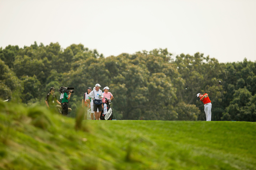 FARMINGDALE, NY - AUGUST 24:  Rory McIlroy of Northern Ireland plays a tee shot during the second round of the 2012 Barclays at the Black Course at Bethpage State Park in Farmingale, New York on August 24, 2012. (Photograph ©2012 Darren Carroll) *** Local Caption *** Rory McIlroy