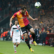 Galatasaray's Hamit Altintop (R) during their Turkish Super League soccer match Galatasaray between Genclerbirligi at the TT Arena at Seyrantepe in Istanbul Turkey on Friday, 08 March 2013. Photo by Aykut AKICI/TURKPIX