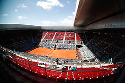 May 3, 2019 - Madrid, MADRID, SPAIN - Panoramic view of Manolo Santana curt during the Mutua Madrid Open 2019 (ATP Masters 1000 and WTA Premier) tenis tournament at Caja Magica in Madrid, Spain, on April 28, 2019. (Credit Image: © AFP7 via ZUMA Wire)