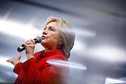 Democratic U.S. presidential candidate Hillary Clinton speaks during a Get Out the Caucus event with Senator Cory Booker at the Vernon Middle School in Marion, Iowa, January 24, 2016. REUTERS/Scott Morgan