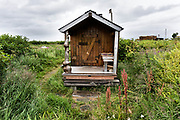 The sauna at the campground in the McNeil River State Game Sanctuary on the Kenai Peninsula, Alaska. The remote site is accessed only with a special permit and is the world's largest seasonal population of brown bears in their natural environment.