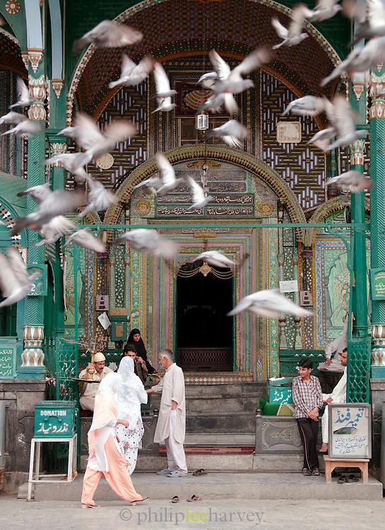 The entrance to Shai Sandan Mosque, Srinigar, Kashmir, India