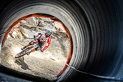 14.06.2014, Bike Park, Leogang, AUT, UCI, Mountainbike Weltcup, Leogang, Downhill, Herren, im Bild Sam Dale (GBR) // during Mens Downhill of UCI Mountainbike Worldcup at the Bikepark, Leogang, Austria on 2014/06/14. EXPA Pictures © 2014, PhotoCredit: EXPA/ JFK