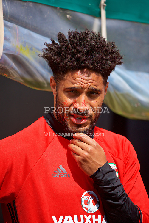 CARDIFF, WALES - Wednesday, June 7, 2017: Wales' captain Ashley Williams during a training session at the Vale Resort ahead of the 2018 FIFA World Cup Qualifying Group D match against Serbia. (Pic by David Rawcliffe/Propaganda)