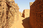 Sandstone houses in the town of Chinguetti, world heritage sight, Western Africa, Mauretania, Africa