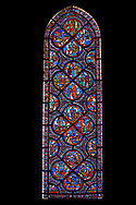 Medieval Windows  of the Gothic Cathedral of Chartres, France, dedicated to the life an miracles of St Nicholas. A UNESCO World Heritage Site. .<br /> <br /> Visit our MEDIEVAL ART PHOTO COLLECTIONS for more   photos  to download or buy as prints https://funkystock.photoshelter.com/gallery-collection/Medieval-Middle-Ages-Art-Artefacts-Antiquities-Pictures-Images-of/C0000YpKXiAHnG2k