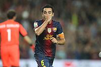 FOOTBALL - SPANISH SUPER CUP 2012 - 1ST LEG - FC BARCELONA v REAL MADRID - 23/08/2012 - PHOTO MANUEL BLONDEAU / AOP.Press / DPPI - XAVI HERNANDEZ CELEBRATES