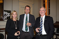 Patricia Greene Volvo Car  Ireland, Harry Hermon CEO of the ISA, Peter Shearer Wicklow Sailing Club  at the launch of 18th Volvo 2016 Round Ireland Yacht Race which was held in the Royal Irish Yacht Club.<br />Photo Ann Egan
