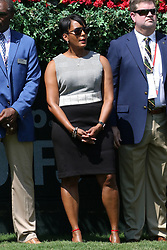 September 20, 2018 - Atlanta, GA, U.S. - ATLANTA, GA - SEPTEMBER 20: Atlanta Mayor Keisha Lance Bottoms watches the first round of the PGA Tour Championship on September 20, 2018, at East Lake Golf Club in Atlanta, GA. (Photo by Michael Wade/Icon Sportswire) (Credit Image: © Michael Wade/Icon SMI via ZUMA Press)