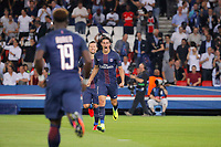 Edinson Roberto Paulo Cavani Gomez (psg) (El Matador) (El Botija) (Florestan) scored a goal with Serge Aurier (psg), Grzegorz Krychowiak (PSG) during the UEFA Champions League, Group A, football match between Paris Saint Germain and Arsenal FC on September 13, 2016 at Parc des Princes stadium in Paris, France - Photo Stephane Allaman / DPPI