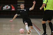 Capital player Lue Saker in action in the Mens Futsal Superleague match, Central v Capital, Pettigrew Green Arena, Napier, Saturday, September 28, 2019. Copyright photo: Kerry Marshall / www.photosport.nz