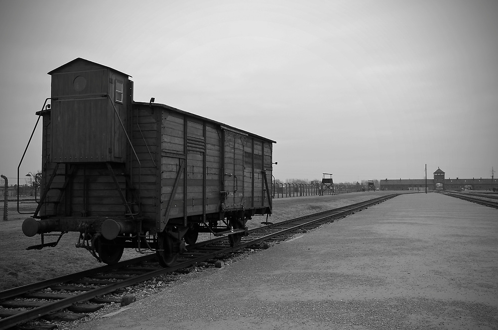 The carriage that carried the victims to the camp.