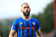 Aaron Wilbraham during the EFL Sky Bet League 1 match between Rochdale and Gillingham at Spotland, Rochdale, England on 15 September 2018.