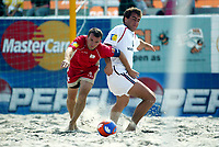 Fotball, Sandfotball, Beach soccer, Stavanger 24/07-04, Spania - England,<br />