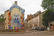 wall painting patriarche p & f r maufoux beaune cote de beaune burgundy france