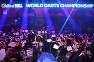Peter Wright walk on during the PDC William Hill World Darts Championship Semi-Final at Alexandra Palace, London, United Kingdom on 30 December 2019.