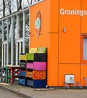 GRONINGEN  - Ook  de hockeyvelden van GCHC en GSHC,   zijn verboden terrein  ivm Coronavirus. COPYRIGHT KOEN SUYK